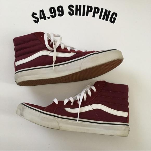 6d3945c376 VANS Sk8-Hi Slim Windsor Wine  Maroon Shoes. M 5baabd662e1478817a590fee